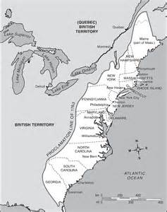 13 Colonies Map Black and White