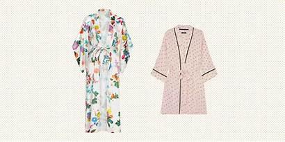 Silk Robes Satin Crop Lightweight