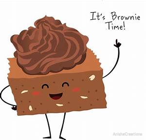 """""""BROWNIE TIME!"""" Stickers by AnishaCreations Redbubble"""