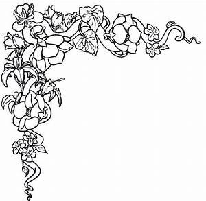 Flower Border Black White