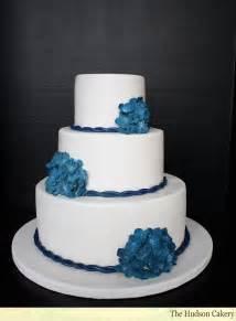 wedding cakes navy hydrangea wedding cake the hudson cakery