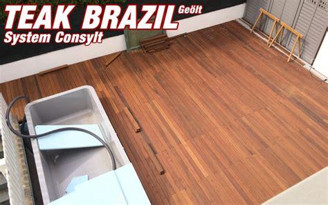 sibirische lärche pflege teak brazil system consylt 194 169 holzterrasse system consylt 194 169 holzterrassen holzterrasse shop