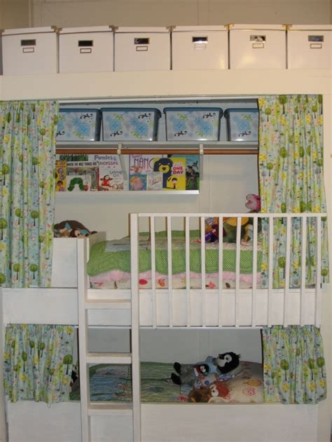 closet nook transformed into bunk beds bunkie beds
