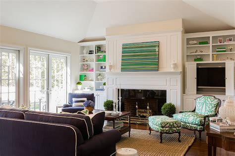 pivoting bookcase and tv cabinet transitional living room benjamin moore white dove