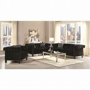 Living room black furniture living room design for Living room furniture sets okc