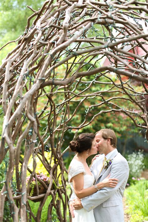 curly willow arch  garden wedding venue ideas