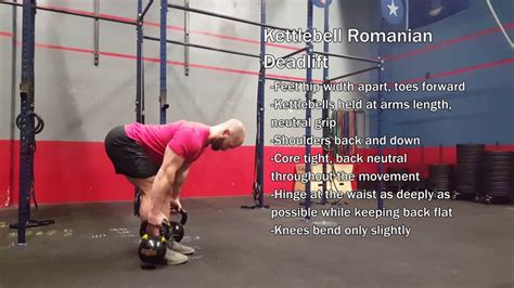 deadlift kettlebell romanian