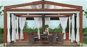 Tende per gazebo in legno Esterni design