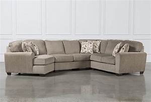 Patola park 4 piece sectional w laf cuddler living spaces for Sectional sofa with cuddler and chaise