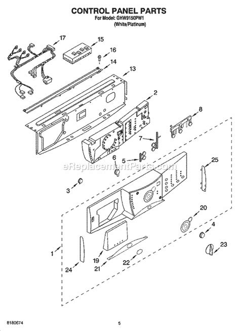 whirlpool ghw9150pw1 parts list and diagram ereplacementparts