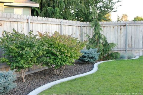 cement flower bed border outdoor spaces