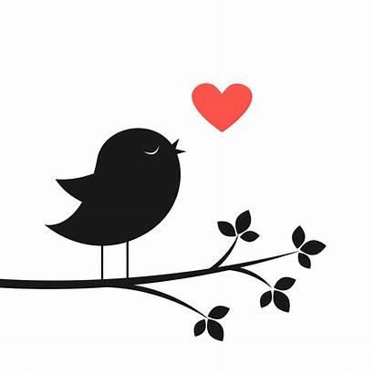 Silhouette Bird Heart Vector Birds Clipart Tree