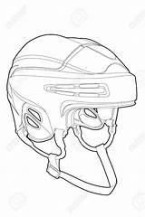 Mask Goalie Drawing Hockey Outline Getdrawings sketch template