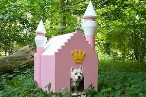pink princess dog kennel ellie needs this diva With dog castle kennel