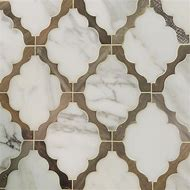 Wood and Marble Floor Tile Design