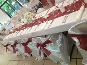 mariage bordeaux décoration mariage bordeaux et blanc