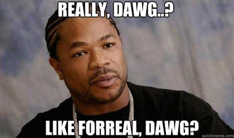 Meme Dawg - really dawg like forreal dawg forreal dawg xzibit quickmeme