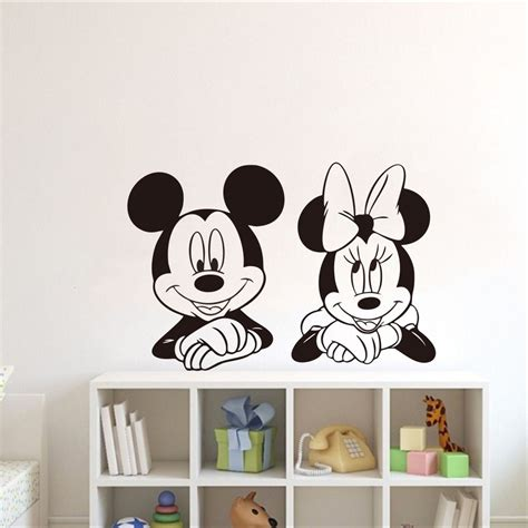 minnie mouse wandtattoo adesivo parede mickey minnie mouse cabeceira disney