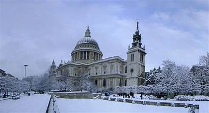 Cathedral London Winter St Pauls Paul England