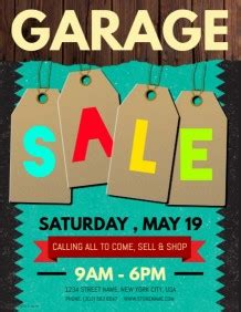 Garage Sale Flyer Template Word by Garage Sale Flyer Templates Postermywall