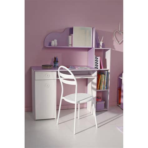 bureau enfant ik饌 bureau enfant quot mila quot 100cm blanc lilas