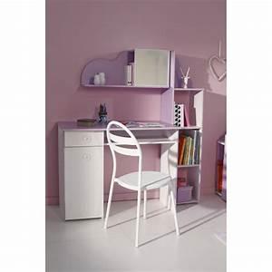 Bureau Enfant Blanc : bureau enfant mila 100cm blanc lilas ~ Teatrodelosmanantiales.com Idées de Décoration