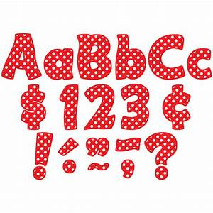 Red polka dots funtastic 4quot letters combo pack tcr5344 for Dots alphabet letter
