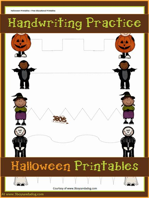 printables preschool handwriting practice 3 318   Preschool Halloween Handwriting Practice 767x1024