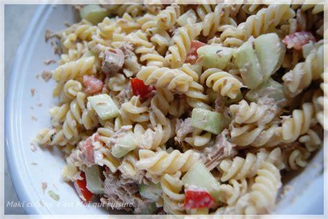 recette vinaigrette pour salade de pates froides salade de thon p 226 te et menthe maki cuisine