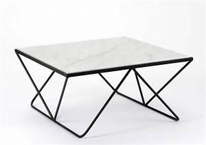 Table Basse Marbre But : table basse m tal et marbre ~ Teatrodelosmanantiales.com Idées de Décoration