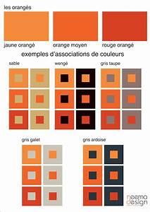 Association Couleur Gris : 01 nuancier oranges 1 id es pour la maison design home deco et orange ~ Melissatoandfro.com Idées de Décoration