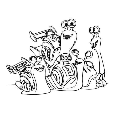 Kleurplaat Turbo Slak by Leuk Voor Turbo En Zijn Vrienden