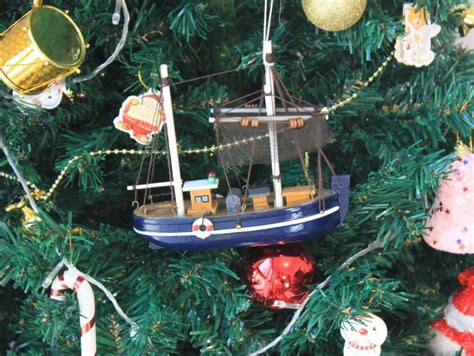 Fishing Boat Christmas Ornament by Wholesale Wooden Fisher King Model Fishing Boat Christmas