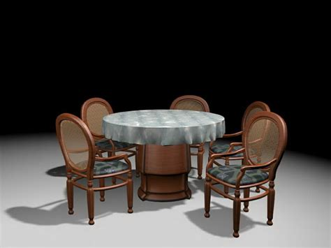 dining set  model ds max files
