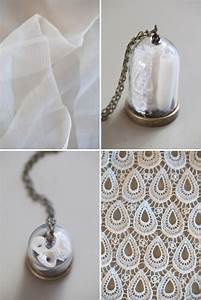 make your own wedding dress keepsake necklace With keepsakes made from wedding dresses