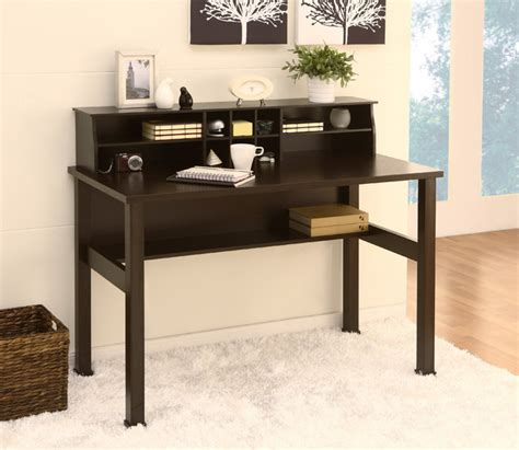 mini hutch for desk furniture of america kyle cappuccino office writing desk