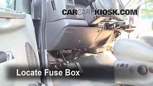 Interior Fuse Box Location  1999