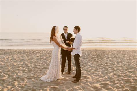 Intimate Beach Wedding By Gina + Ryan Photography