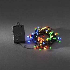 Weihnachtsbeleuchtung Mit Batterie Und Timer : led lichterkette 40 globe led bunt batteriebetrieb mit sensor und timer ~ Orissabook.com Haus und Dekorationen