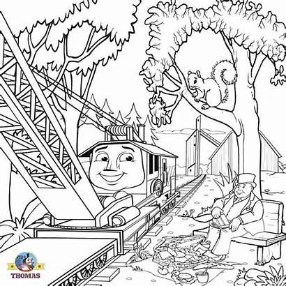 Thomas Train Coloring Pages Engine Steam Printable