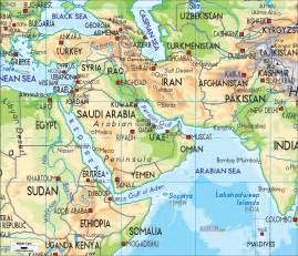 Political/physical Map Of Middle East Images & Pictures ...