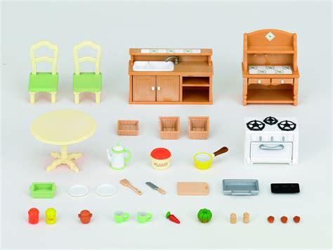 sylvanian families 2951 set cuisine poupées et