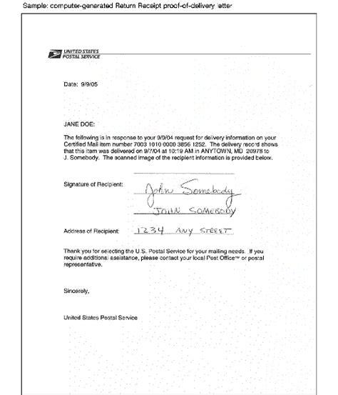 business letter format hand delivered sample business letter