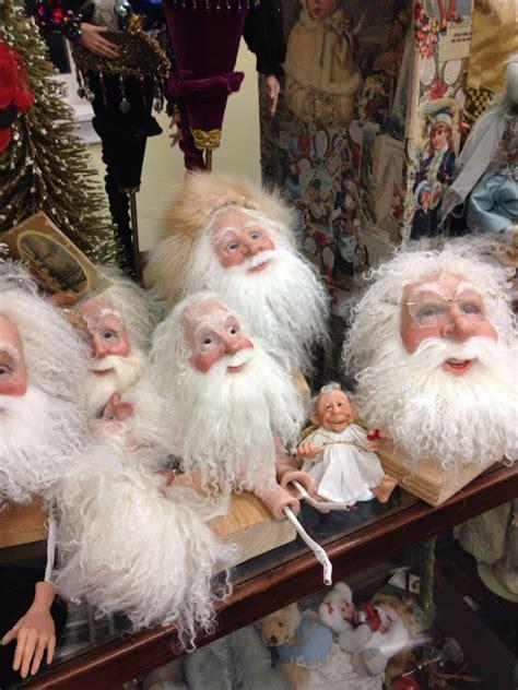 heads  santa art dolls  lois mccall santas