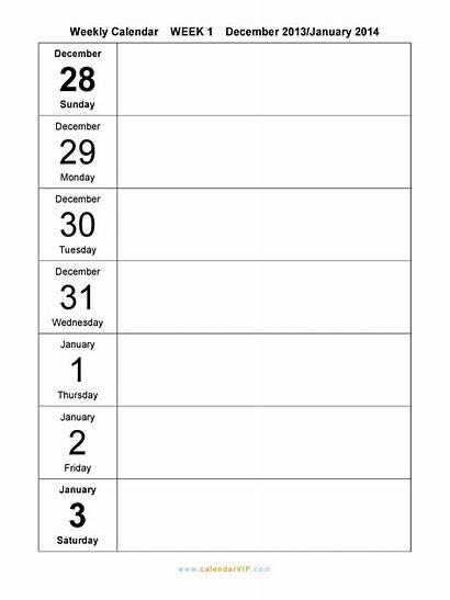 Weekly Calendar Printable Template Templates Planner Week