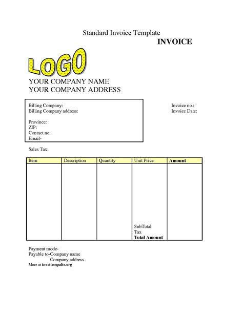 Free Invoice Template Free Invoice Templet Invoice Template Ideas