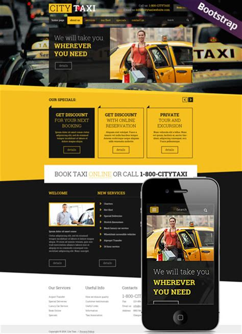 airport template free web taxi service bootstrap template id 300111789 from
