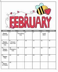 preschool february calendar themes