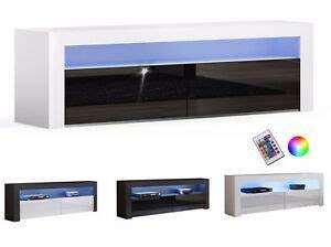 Tv Schrank Modern : tv lowboard schrank tisch board hochglanz modern 157cm mit rgb led beleuchtung ebay ~ A.2002-acura-tl-radio.info Haus und Dekorationen