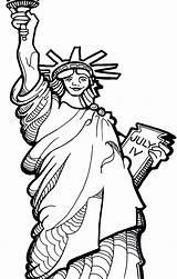 Coloring Liberty Statue Oscar Torch Drawing Patriotic Printable Getdrawings Getcolorings sketch template